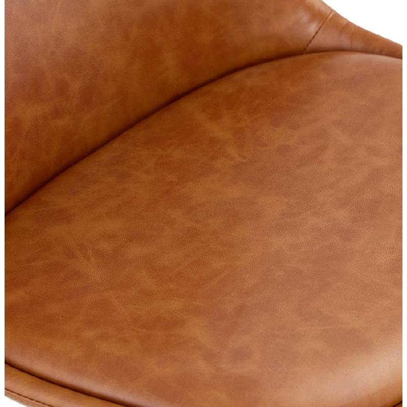 Silla de diseño color natural pies de ASHLEY (marrón) - image 39179