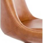 Silla de diseño color natural pies de ASHLEY (marrón)