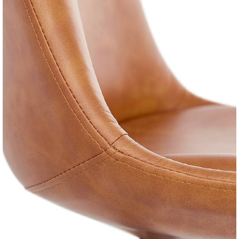 Silla de diseño color natural pies de ASHLEY (marrón) - image 39181