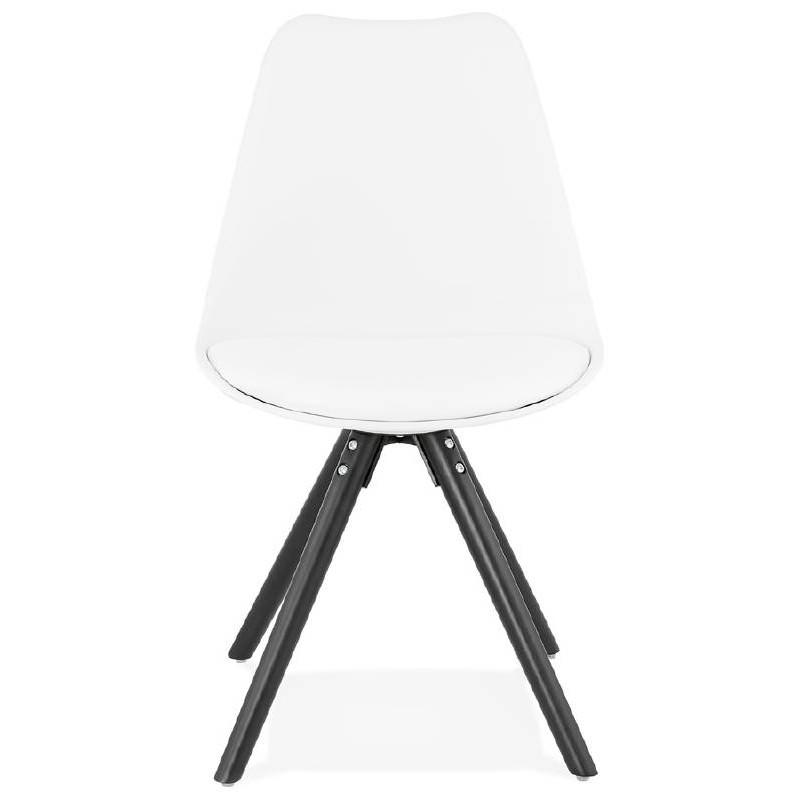 Chaise design ASHLEY pieds noirs (blanc) - image 39212