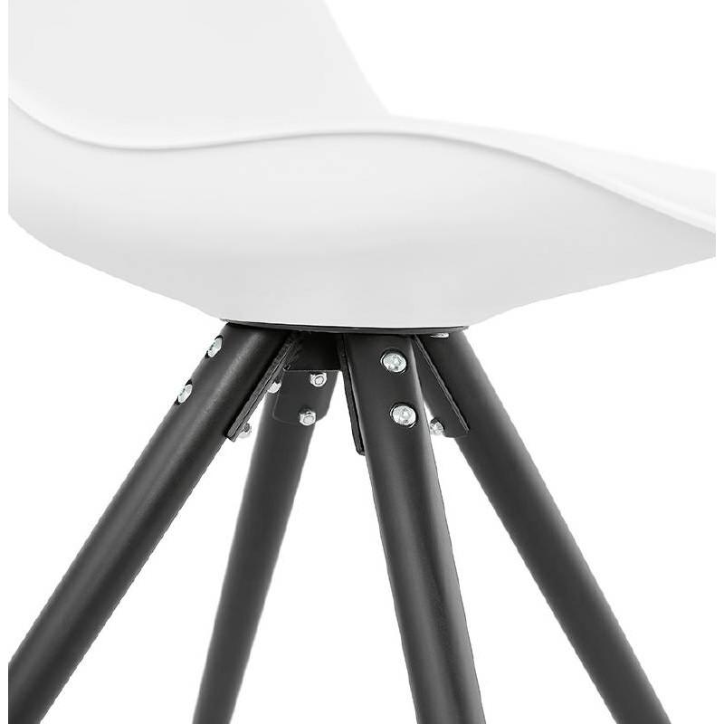 Chaise design ASHLEY pieds noirs (blanc) - image 39219