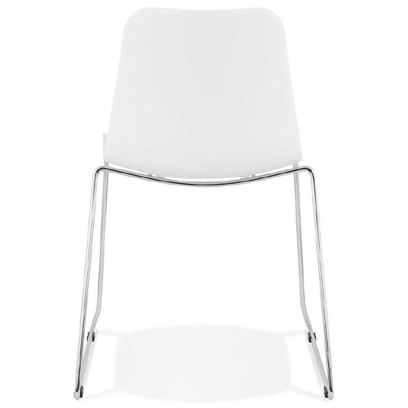 Piede di ALIX sedia moderno cromato in metallo (bianco) - image 39252