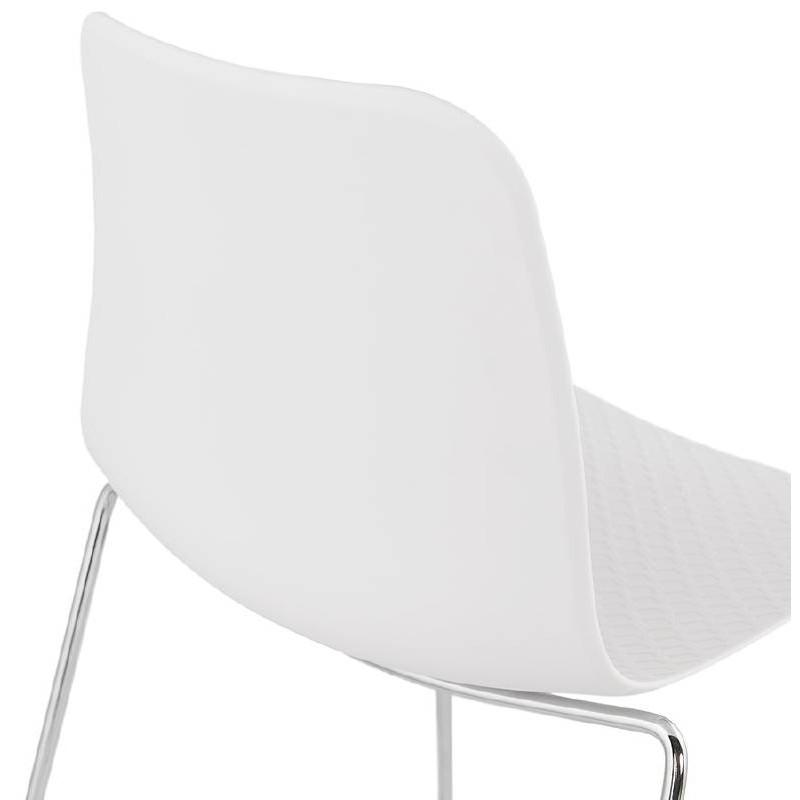 Piede di ALIX sedia moderno cromato in metallo (bianco) - image 39256