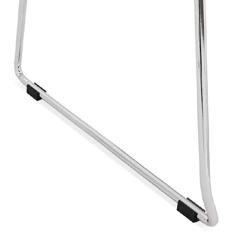 Moderner Stuhl ALIX Fuß verchromt Metall (schwarz) - image 39268