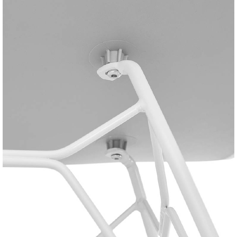 Design and modern Chair in polypropylene feet white metal (light gray) - image 39302