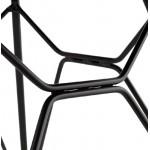 Silla de diseño y industrial metal de VENUS pies (cielo azul) negro