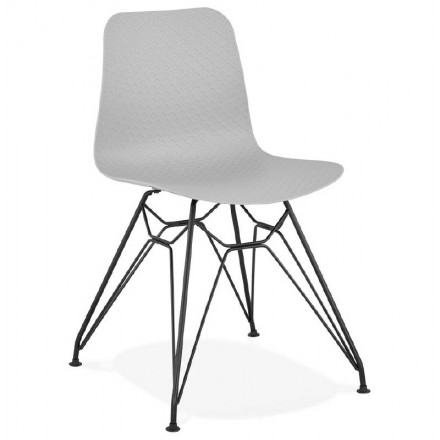 Design chair and industrial VENUS feet black metal (light grey)