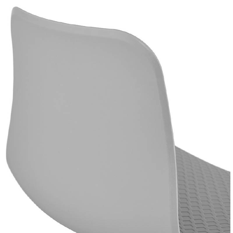 Chaise design et industrielle VENUS pieds métal noir (gris clair) - image 39376