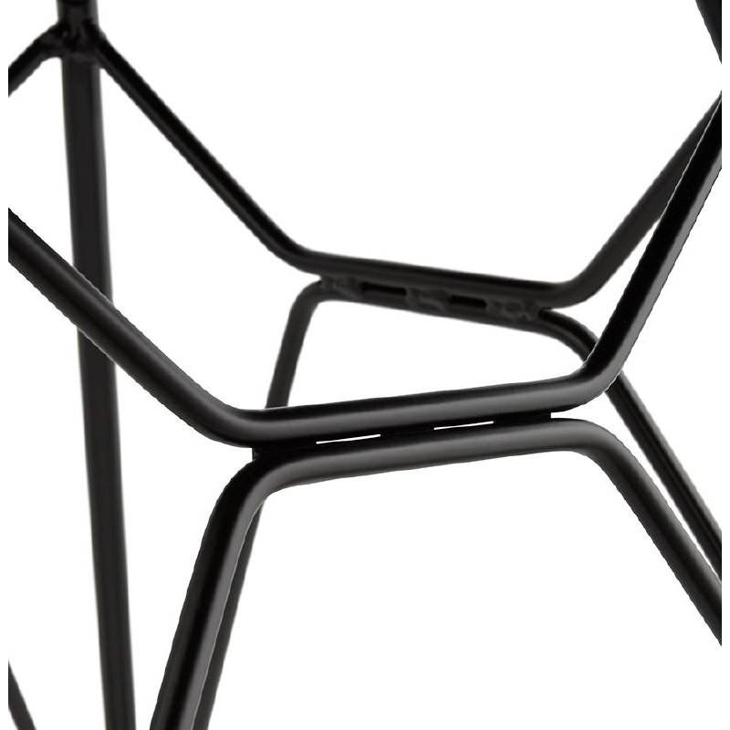 Chaise design et industrielle VENUS pieds métal noir (gris clair) - image 39379