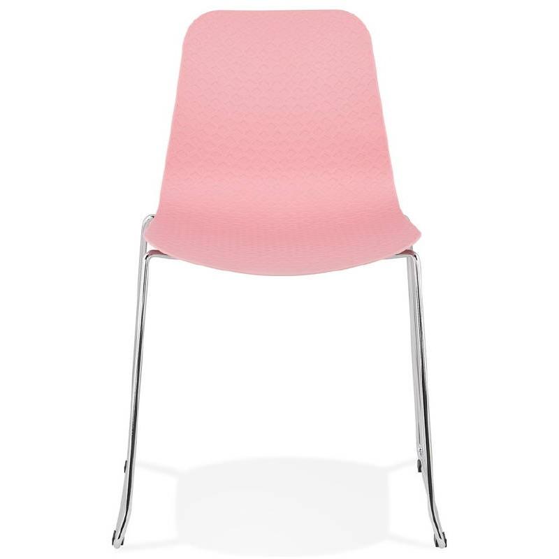 Piede di ALIX sedia moderno cromato metallo (rosa) - image 39421
