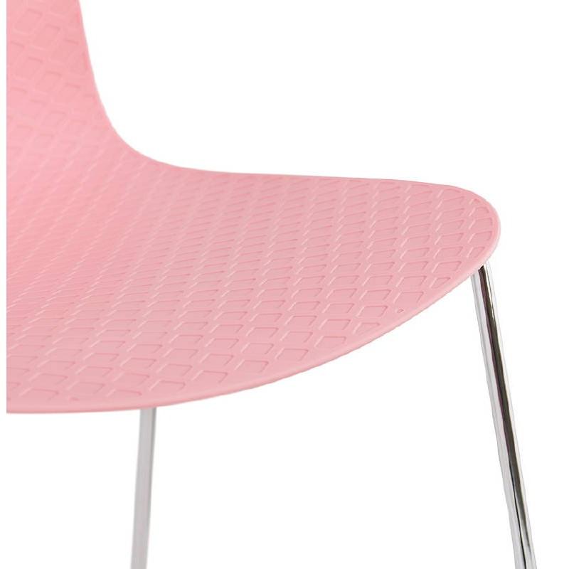 Piede di ALIX sedia moderno cromato metallo (rosa) - image 39426
