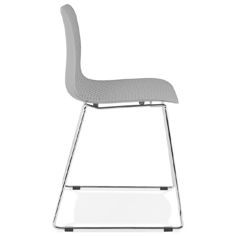 Modern Chair ALIX foot chromed metal (light gray) - image 39445