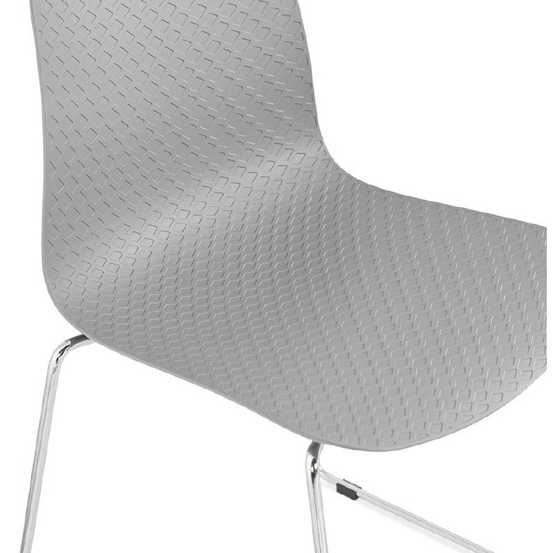 Modern Chair ALIX foot chromed metal (light gray) - image 39448