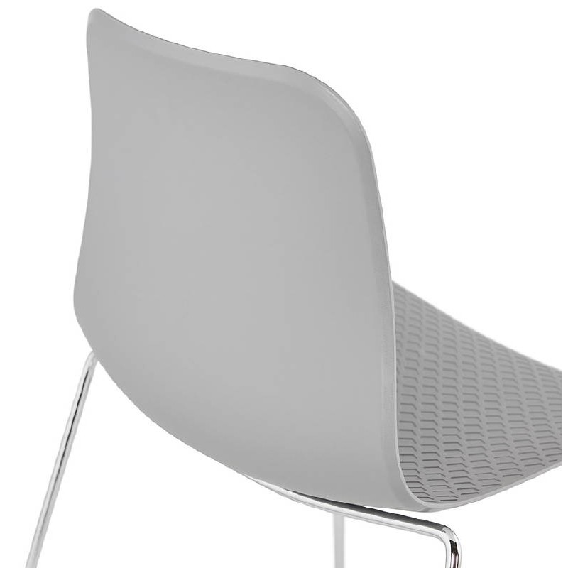 Modern Chair ALIX foot chromed metal (light gray) - image 39451