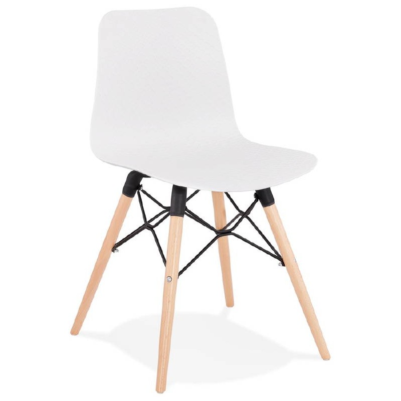 Chaise Design Scandinave CANDICE Blanc