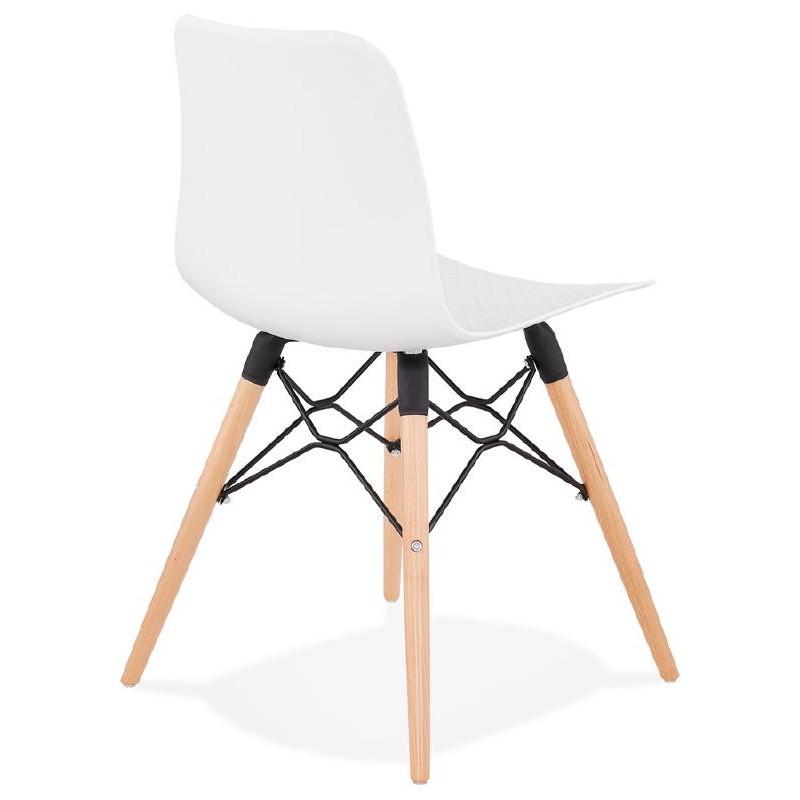 Chaise design scandinave CANDICE (blanc) - image 39457