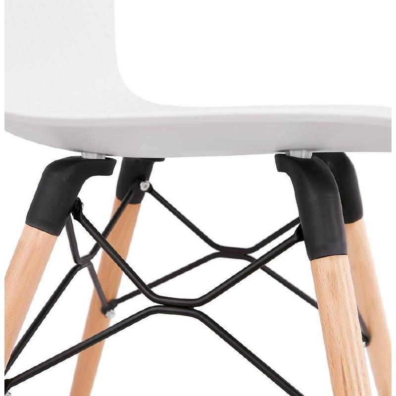 Chaise design scandinave CANDICE (blanc) - image 39463