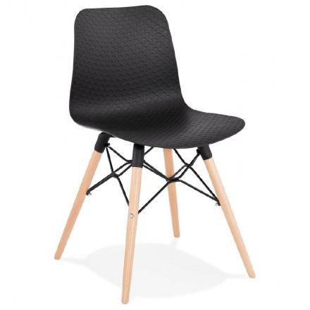 Chaise design scandinave CANDICE (noir)