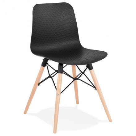 Sedia design scandinavo CANDICE (nero)