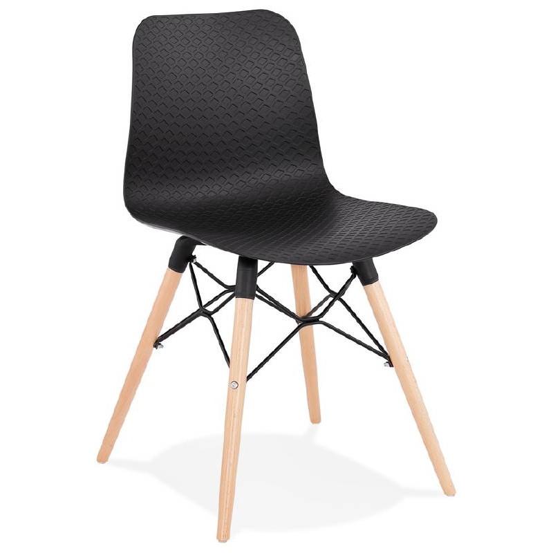 Skandinavisches Design Stuhl CANDICE (schwarz) - image 39469