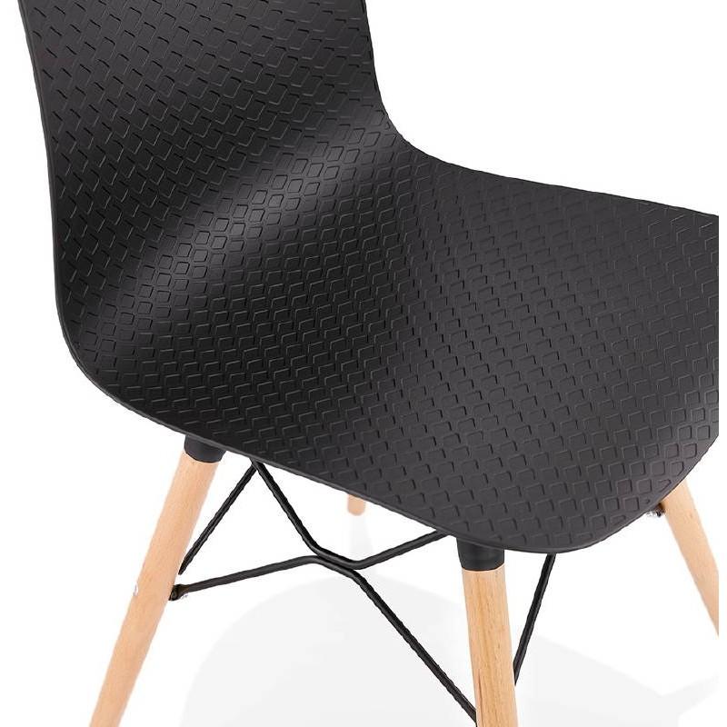 Sedia design scandinavo CANDICE (nero) - image 39476