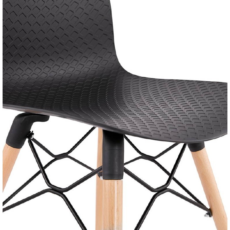 Skandinavisches Design Stuhl CANDICE (schwarz) - image 39477
