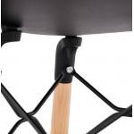 Silla de diseño escandinavo CANDICE (negro)