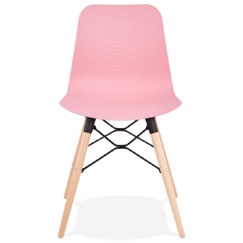 Chaise design scandinave CANDICE (rose) - image 39485