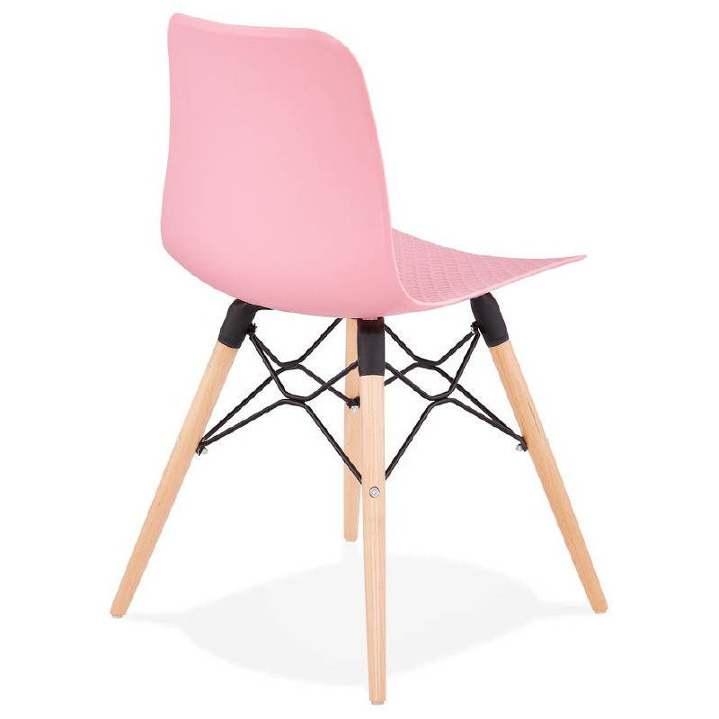 Chaise design scandinave CANDICE (rose) - image 39487