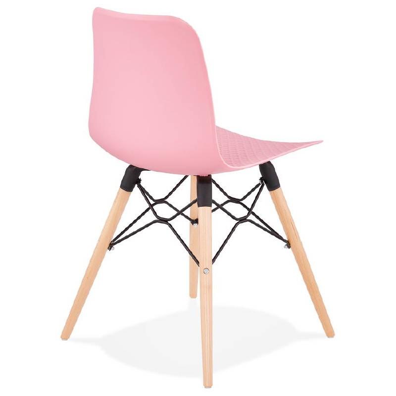 Sedia design scandinavo CANDICE (rosa) - image 39487