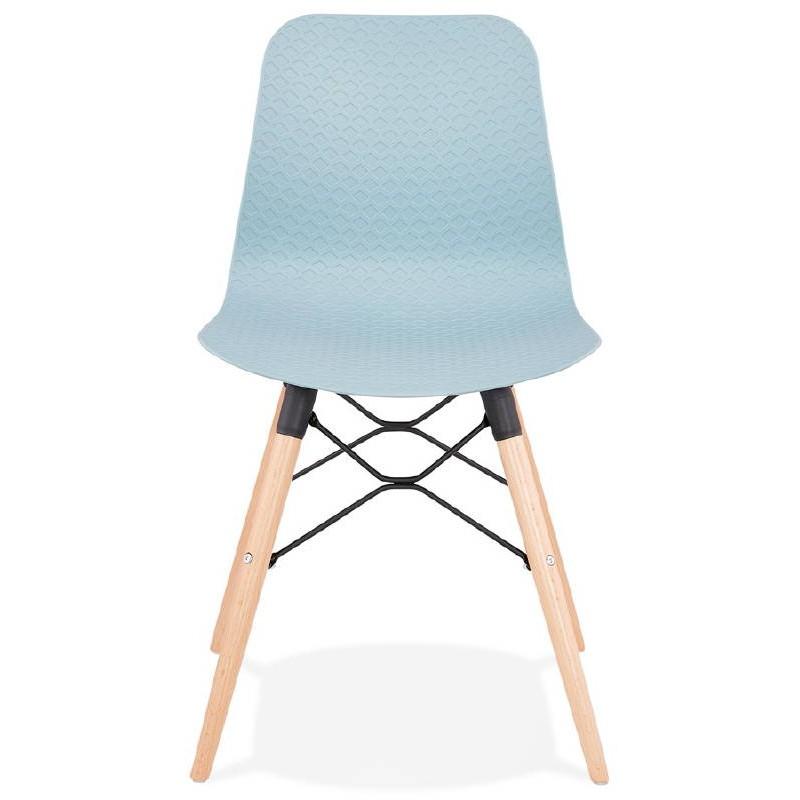 chaise design scandinave candice bleu ciel. Black Bedroom Furniture Sets. Home Design Ideas