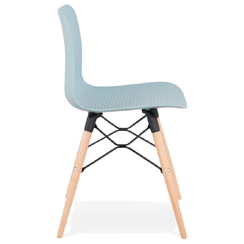 Chaise design scandinave CANDICE (bleu ciel) - image 39501