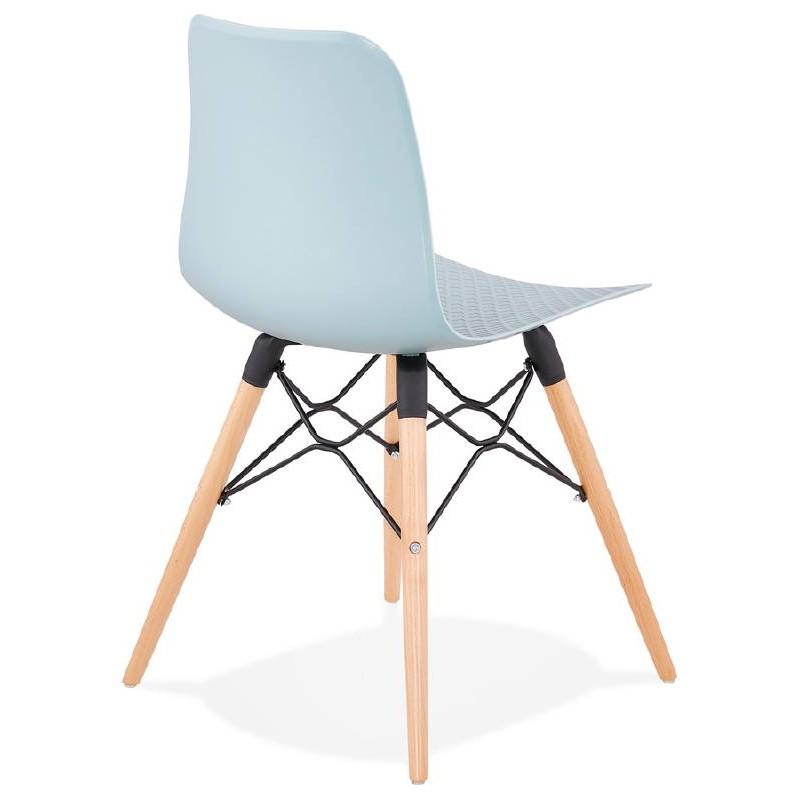 Chaise design scandinave CANDICE (bleu ciel) - image 39502