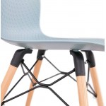 Chaise design scandinave CANDICE (bleu ciel)