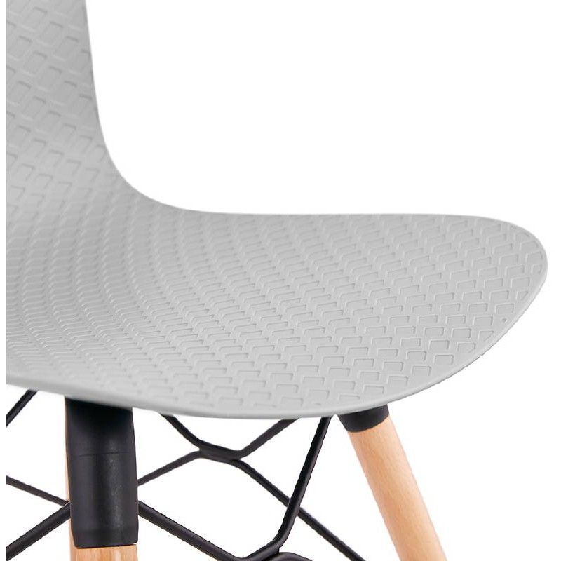 Chaise design scandinave CANDICE (gris clair) - image 39523