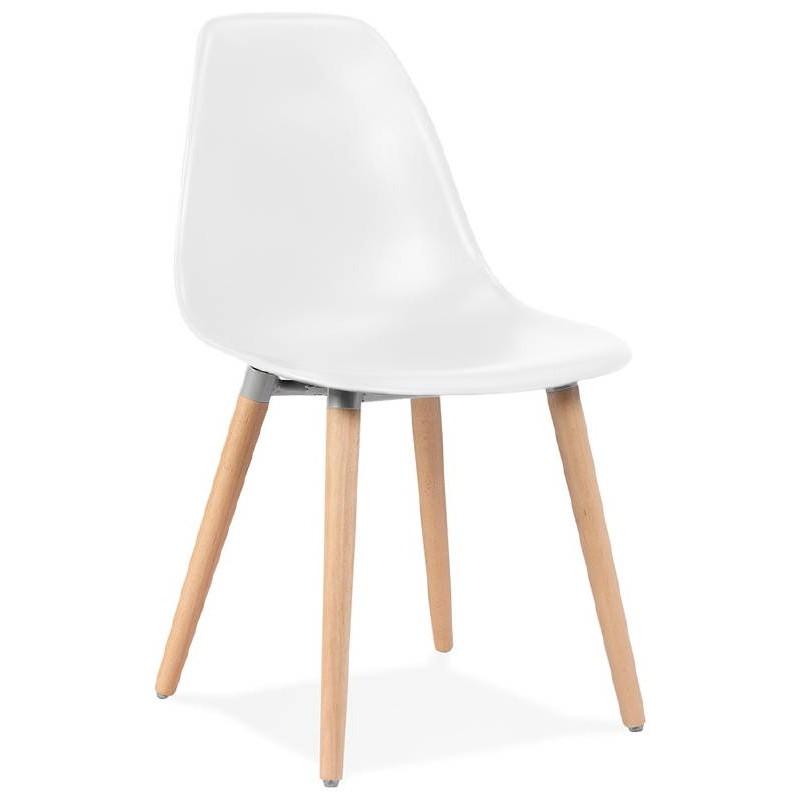 Sedia design scandinavo ANGELINA (bianco)