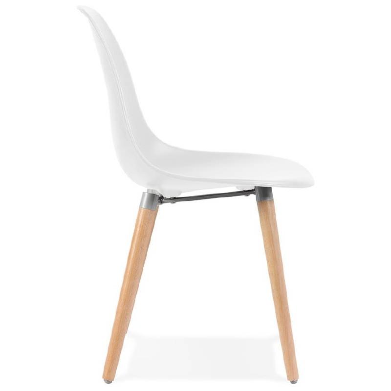 Skandinavisches Design Stuhl ANGELINA (weiß) - image 39531