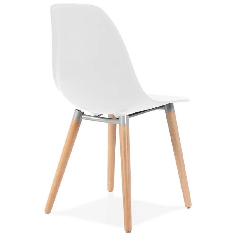 Sedia design scandinavo ANGELINA (bianco) - image 39532