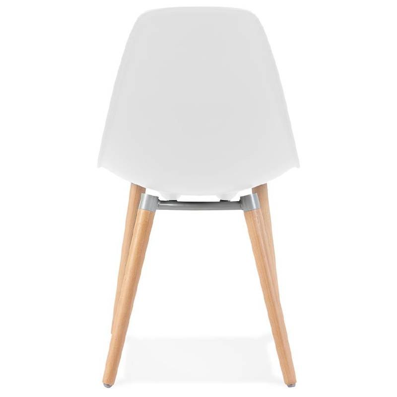Skandinavisches Design Stuhl ANGELINA (weiß) - image 39533