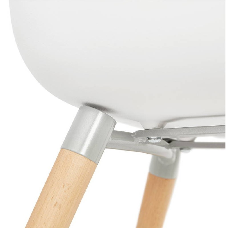 Skandinavisches Design Stuhl ANGELINA (weiß) - image 39536