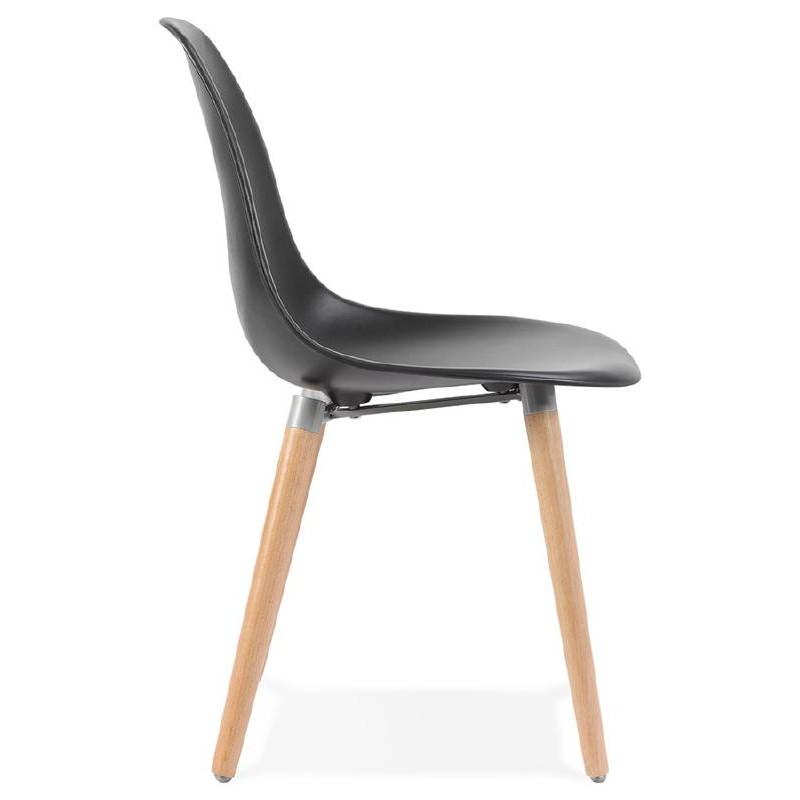 Skandinavisches Design Stuhl ANGELINA (schwarz) - image 39541