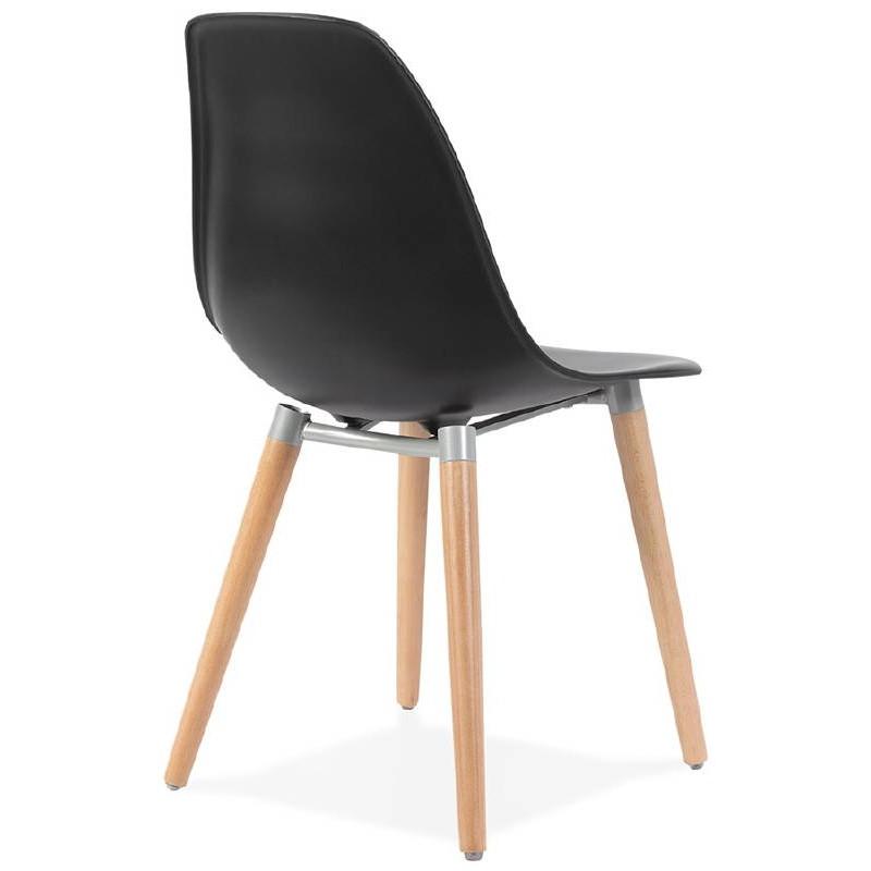 Skandinavisches Design Stuhl ANGELINA (schwarz) - image 39542