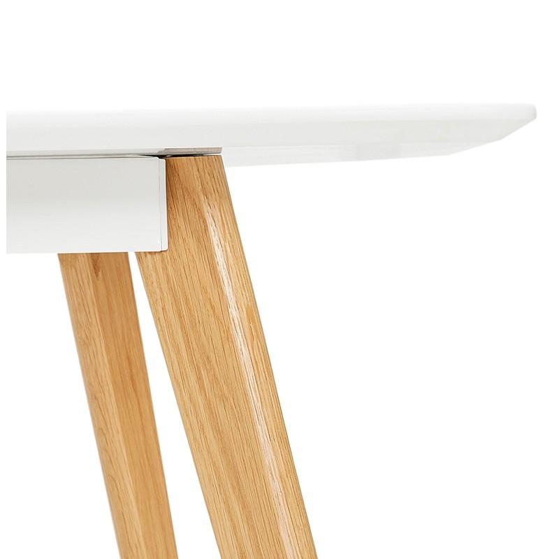 Table à manger design scandinave CLEMENTINE en bois (200x90x75 cm) (blanc) - image 39589