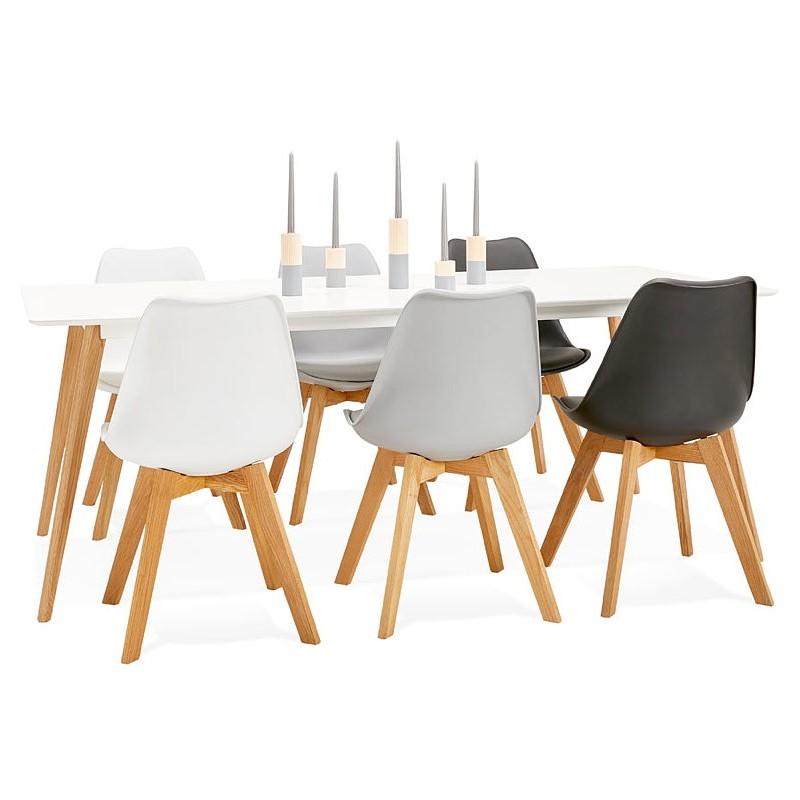 Tavolo da pranzo design scandinavo CLEMENTINE in legno (200 x 90 x ...