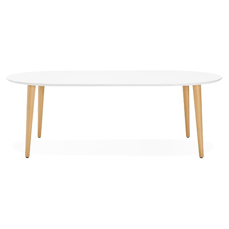 Table manger ronde scandinave rallonges 120 cm - Table ronde bois blanc avec rallonge ...