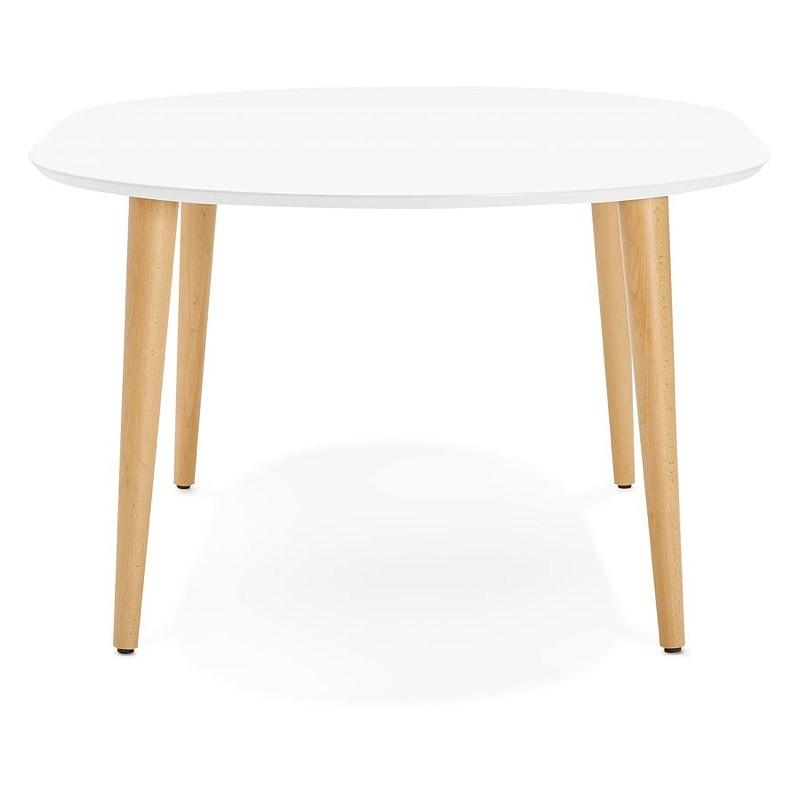 Table A Manger Ronde Scandinave A Rallonges O 120 Cm Olivia En