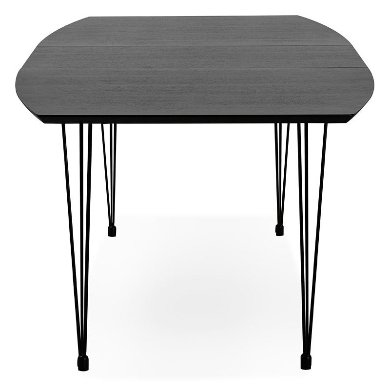 Loana Extensions Dining Wood And Metal100 Table X 170 73 Cmblack Design With 270 In f7gYyb6