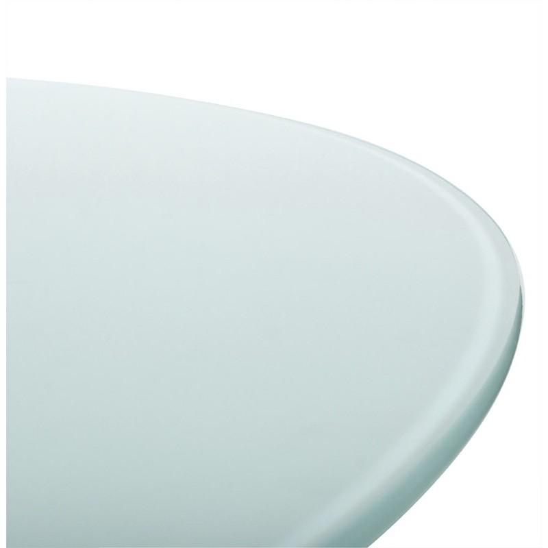 table manger ronde design cassandre en verre 140 cm blanc. Black Bedroom Furniture Sets. Home Design Ideas