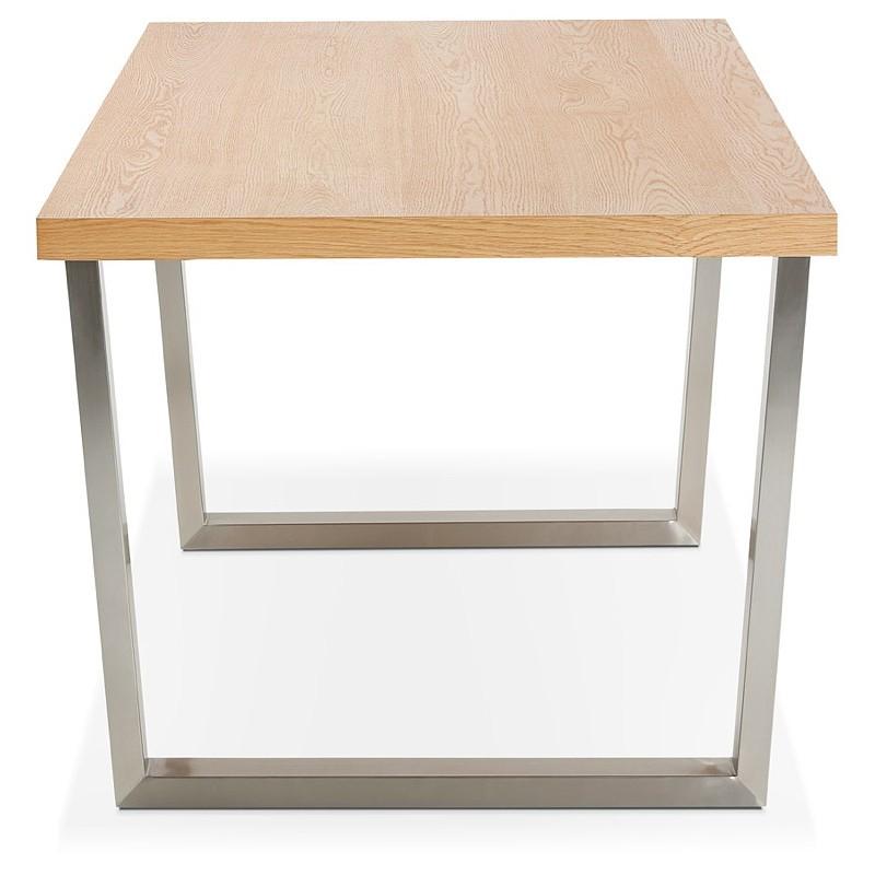 Table à manger design ou table de réunion AXELLE en bois et métal (180x90x77 cm) (naturel) - image 39656