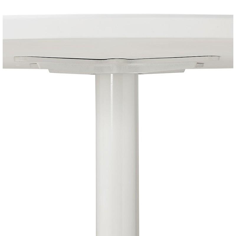 Tisch rund essen skandinavisches Design oder Büro MAUD in MDF und lackiertem Metall (Ø 90 cm) (weiß) - image 39676